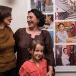 Lisa Fuhr mit Rusudan Kobiashvili-Hofmann und ihrem Töchterchen