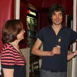 With film director Simon Gross