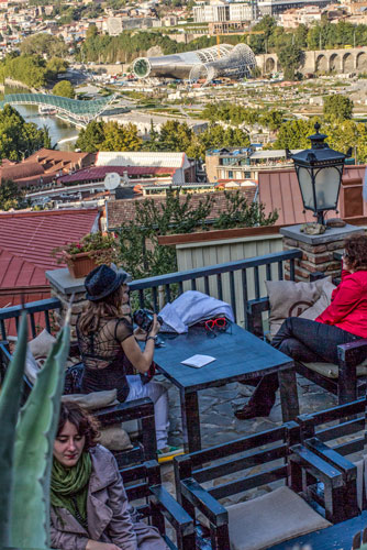Tiflis Blick vom Café